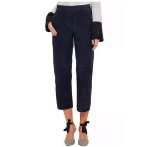 J. Crew Collection suede patio pant